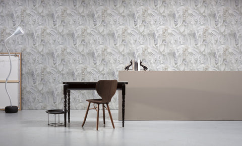 Paper Flowers Wallpaper by Studio Boot for NLXL Monochrome Collection