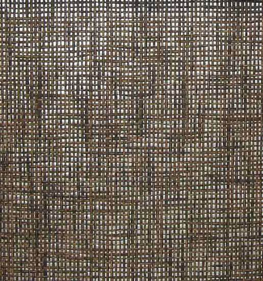 Sample Paper Weave Wallpaper in Brown and Black on Silver from the Winds of the Asian Pacific Collection by Burke Decor