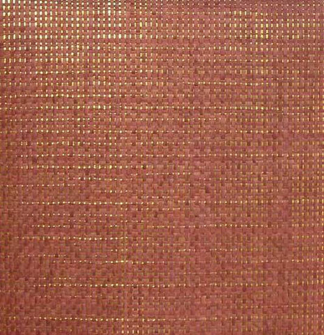 Paper Weave Wallpaper in Burnt Red and Gold from the Winds of the Asian Pacific Collection by Burke Decor