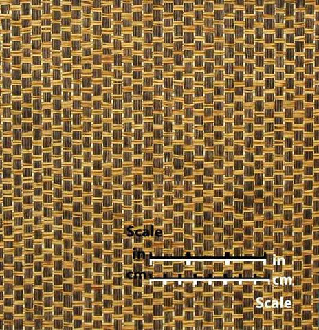 Paper Weave Wallpaper in Caramel and Brown from the Winds of the Asian Pacific Collection by Burke Decor