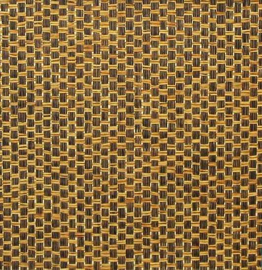 Sample Paper Weave Wallpaper in Caramel and Brown from the Winds of the Asian Pacific Collection by Burke Decor
