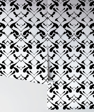 Paperflock Wallpaper in Domino by Sixhands for Milton & King