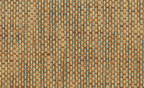 Paperweave Grasscloth Wallpaper in Brown and Green design by Seabrook Wallcoverings
