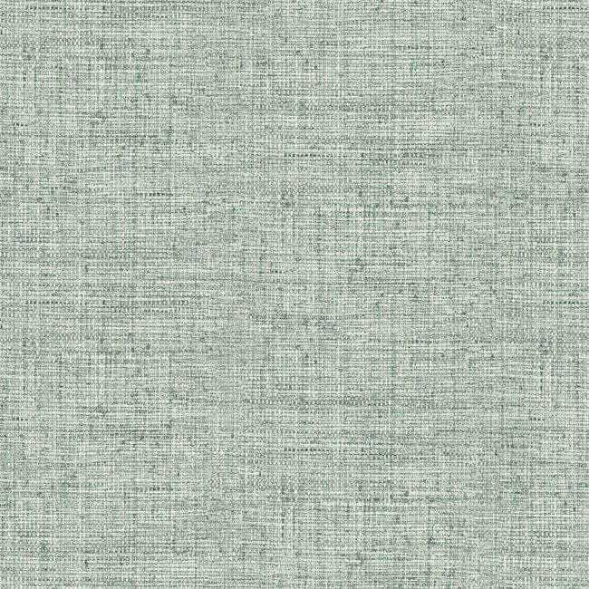 Sample Papyrus Weave Peel & Stick Wallpaper in Blue by York Wallcoverings