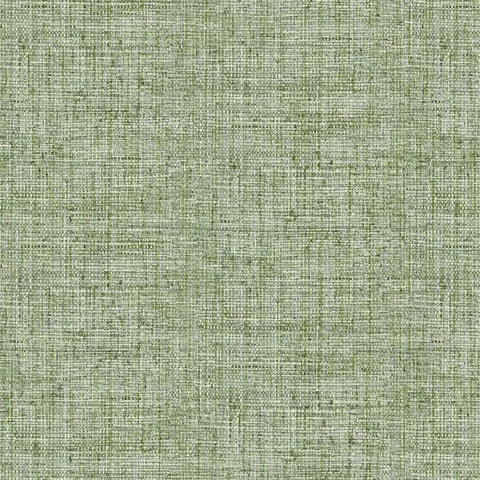 Papyrus Weave Peel & Stick Wallpaper in Green by York Wallcoverings
