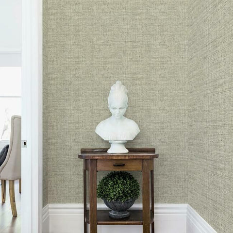 Papyrus Weave Peel & Stick Wallpaper in Neutral by York Wallcoverings