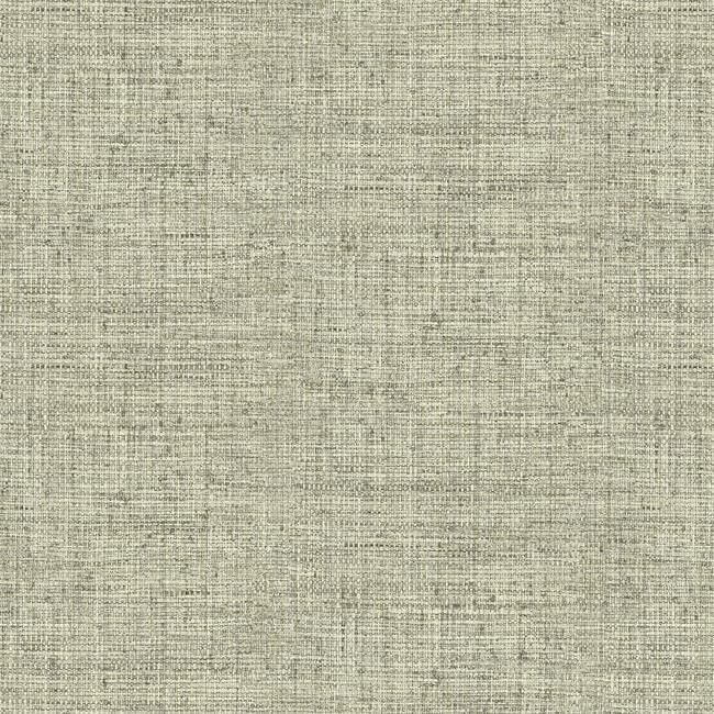 Sample Papyrus Weave Peel & Stick Wallpaper in Neutral by York Wallcoverings
