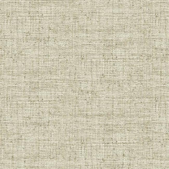 Papyrus Weave Wallpaper in Beige from the Conservatory Collection by York Wallcoverings
