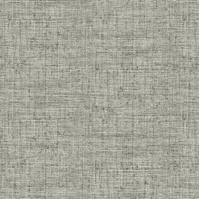 Papyrus Weave Wallpaper in Charcoal from the Conservatory Collection by York Wallcoverings