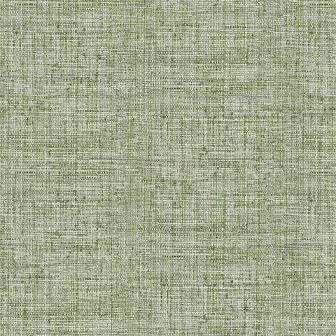 Papyrus Weave Wallpaper in Green from the Conservatory Collection by York Wallcoverings