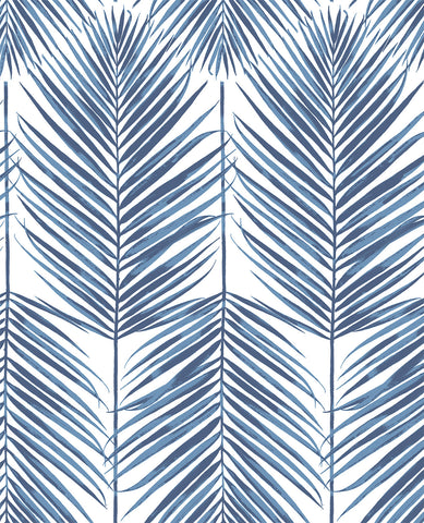 Paradise Palm Peel-and-Stick Wallpaper in Blue by NextWall