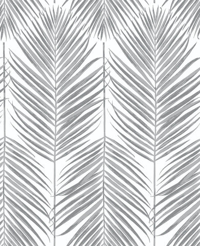 Paradise Palm Peel-and-Stick Wallpaper in Daydream Grey by NextWall