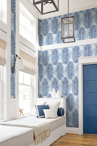 Paradise Wallpaper in Coastal Blue from the Beach House Collection by Seabrook Wallcoverings