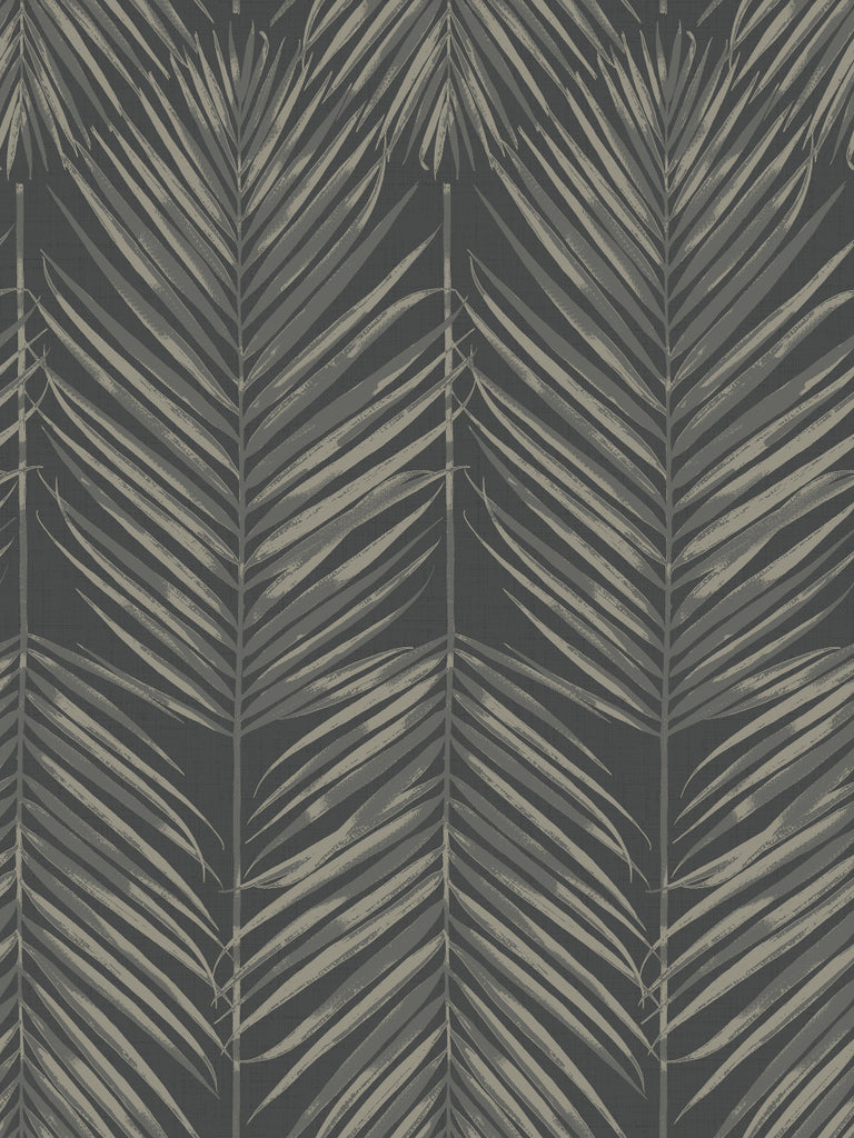 Sample Paradise Wallpaper in Black Sands from the Beach House Collection by Seabrook Wallcoverings