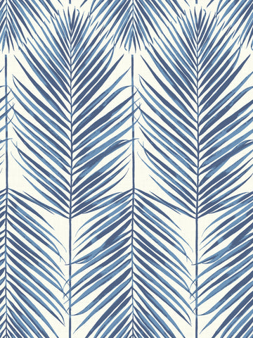 Sample Paradise Wallpaper in Coastal Blue from the Beach House Collection by Seabrook Wallcoverings