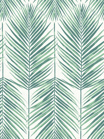 Paradise Wallpaper in Tropic Green from the Beach House Collection by Seabrook Wallcoverings