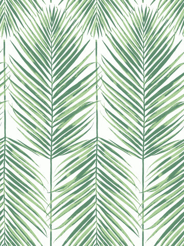 Paradise Wallpaper in Greenery from the Beach House Collection by Seabrook Wallcoverings
