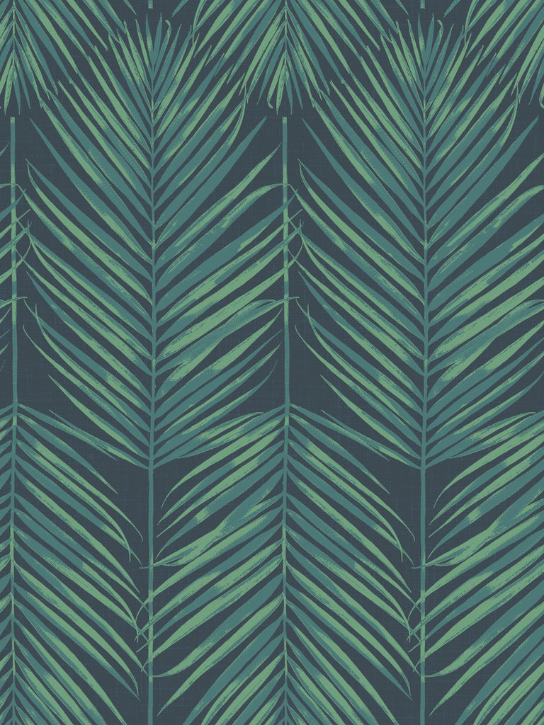 Paradise Wallpaper in Tropic Midnight from the Beach House Collection by Seabrook Wallcoverings