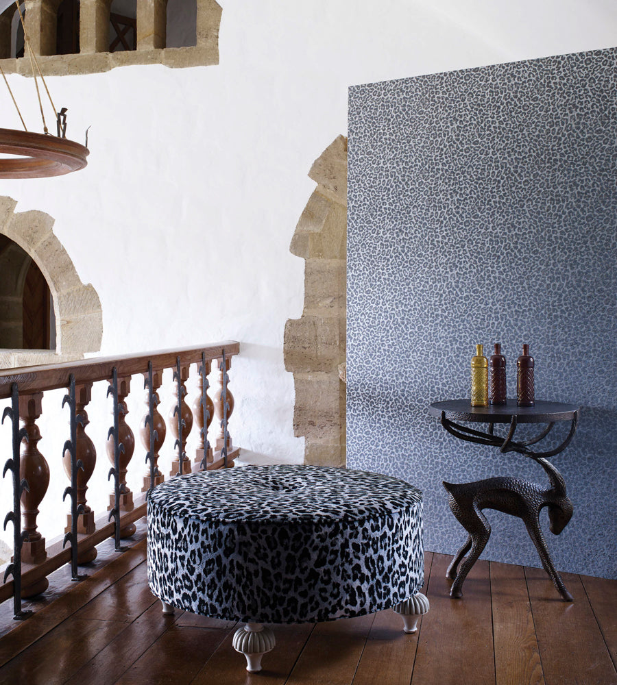 Pardus Wallpaper In Charcoal And Metallic Silver From The