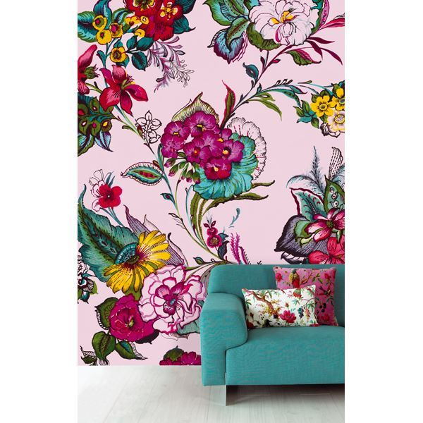 Pareo Pink Colossal Floral Wall Mural by Eijffinger for Brewster Home Fashions