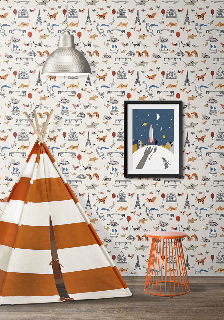 Paris Wallpaper by Muffin & Mani for Milton & King