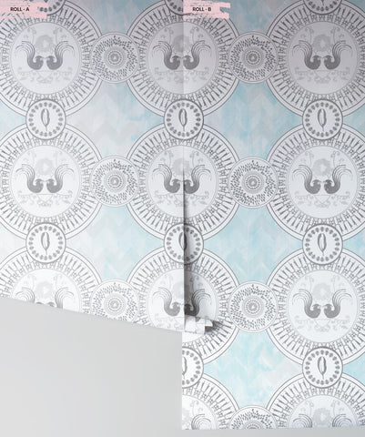 Parlour Paradiso Wallpaper (Two Roll Set) in Beach by Sixhands for Milton & King