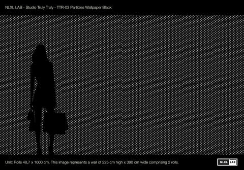 Particles Wallpaper in Black design by Truly Truly for NLXL Wallpaper