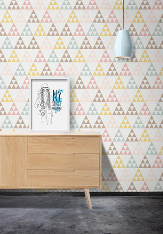 Pastelangles Wallpaper by Ingrid + Mika for Milton & King