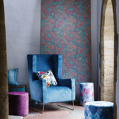Patara Wallpaper from the Pasha Collection by Osborne & Little
