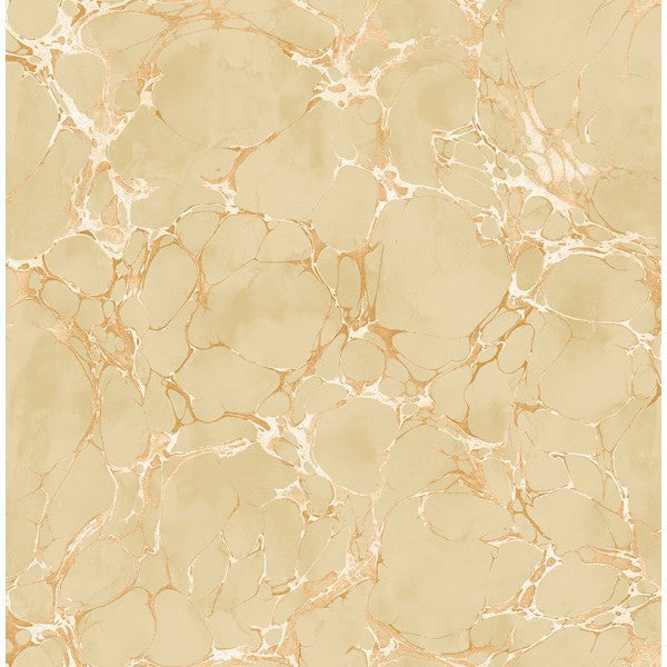 Sample Patina Marble Wallpaper In Gold And Neutrals By Seabrook