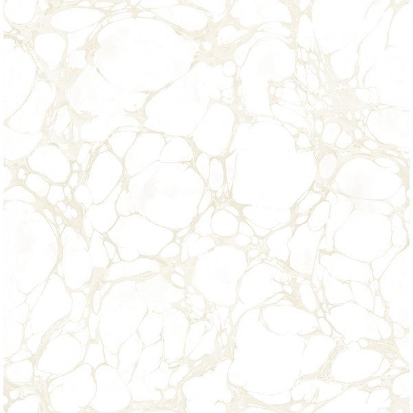 Patina Marble Wallpaper in Silver and White by Seabrook Wallcoverings