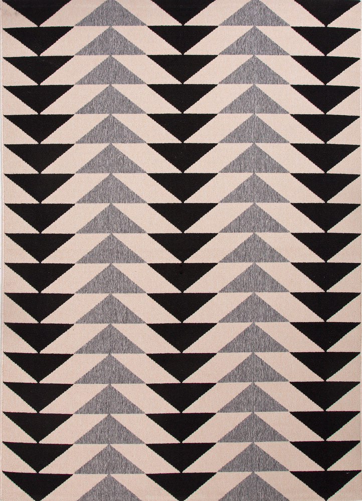 Patio Collection Indoor-Outdoor Area Rug in Black & Gray by Jaipur
