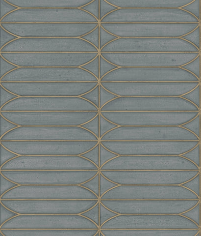 Pavilion Wallpaper in Charcoal from the Breathless Collection by Candice Olson for York Wallcoverings