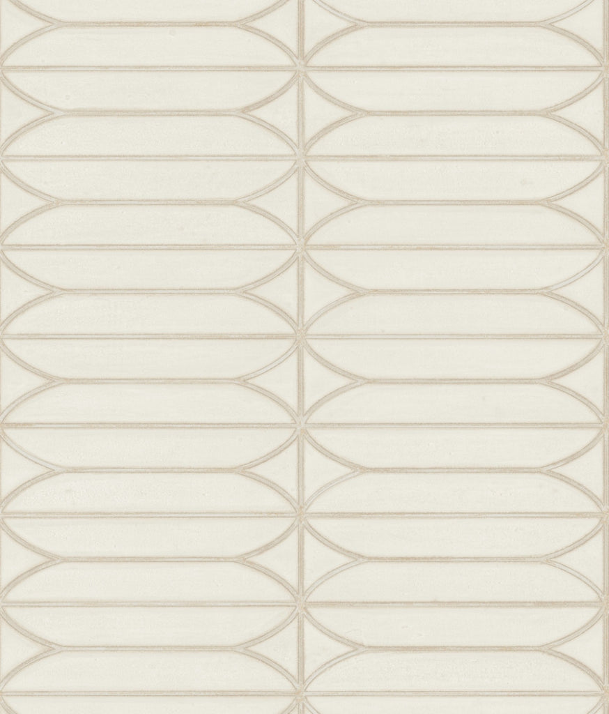 Sample Pavilion Wallpaper in Cream from the Breathless Collection by Candice Olson for York Wallcoverings