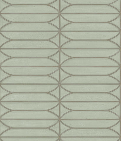 Pavilion Wallpaper in Sage from the Breathless Collection by Candice Olson for York Wallcoverings