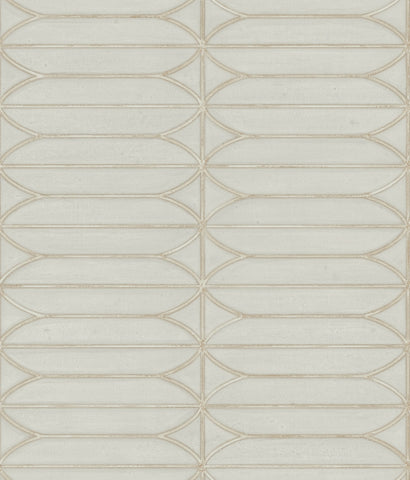 Pavilion Wallpaper in Taupe from the Breathless Collection by Candice Olson for York Wallcoverings
