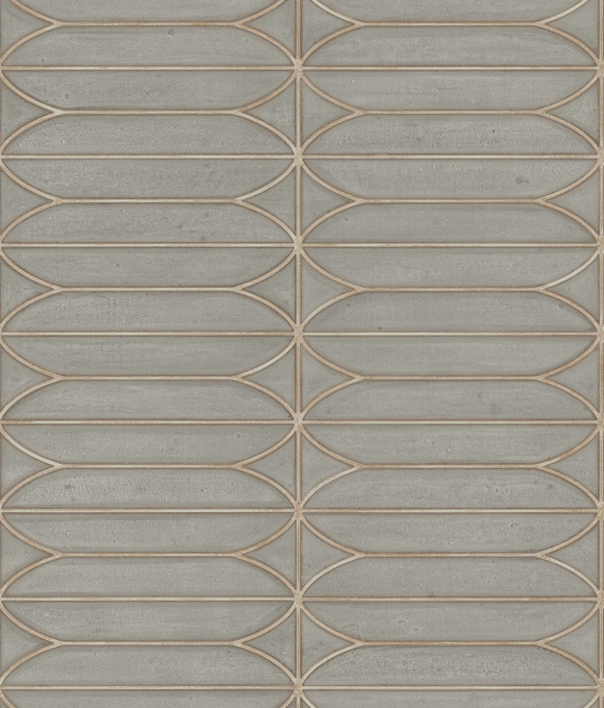 Sample Pavilion Wallpaper in Warm Grey from the Breathless Collection by Candice Olson for York Wallcoverings