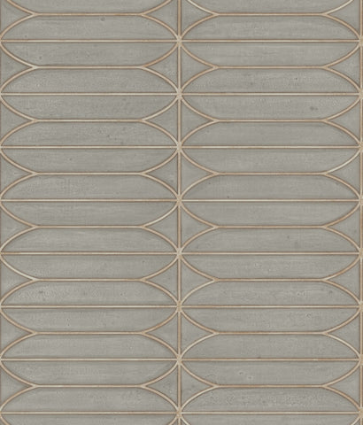 Pavilion Wallpaper in Warm Grey from the Breathless Collection by Candice Olson for York Wallcoverings