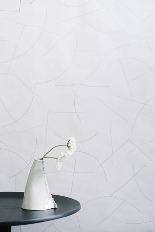 Pavlova Wallpaper in Diamonds and Pearls on Cream design by Juju
