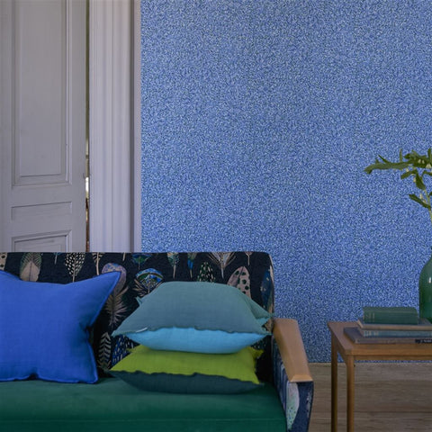 Pavonazzo Wallpaper in Lapis from the Tulipa Stellata Collection by Designers Guild
