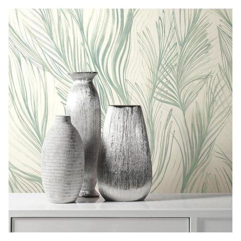 Peaceful Plume Wallpaper from the Botanical Dreams Collection by Candice Olson for York Wallcoverings