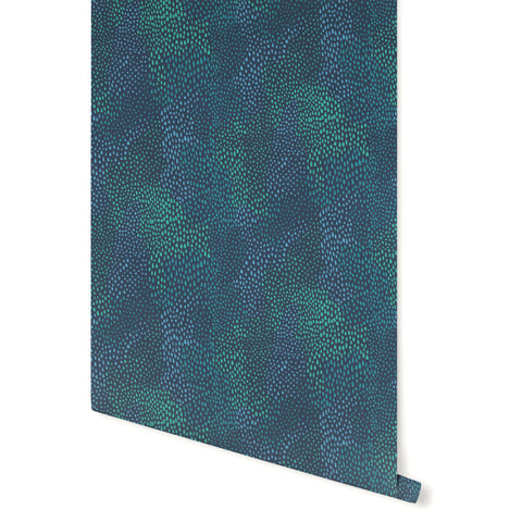 Sample Peaks Wallpaper in Blue, Teal, and Green by Stacey Day