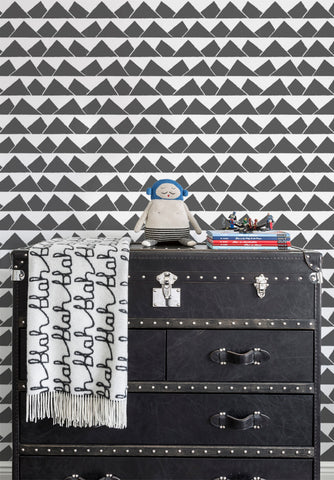 Peaks Wallpaper in Charcoal by Marley + Malek Kids