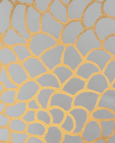 Peel Wallpaper in Rich Gold design by Jill Malek