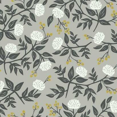 Sample Peonies Wallpaper in Grey from the Rifle Paper Co. Collection by York Wallcoverings
