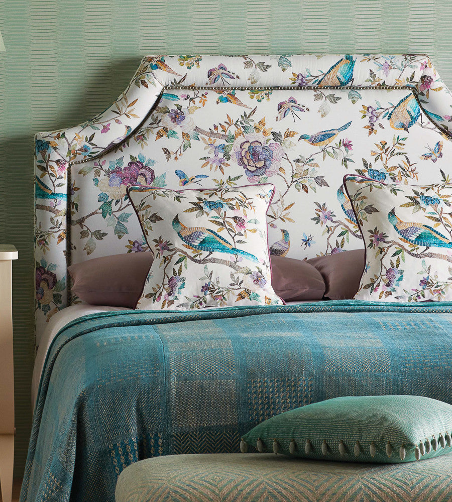 Perdana Fabric in Emerald and Fuchsia by Nina Campbell for Osborne & Little