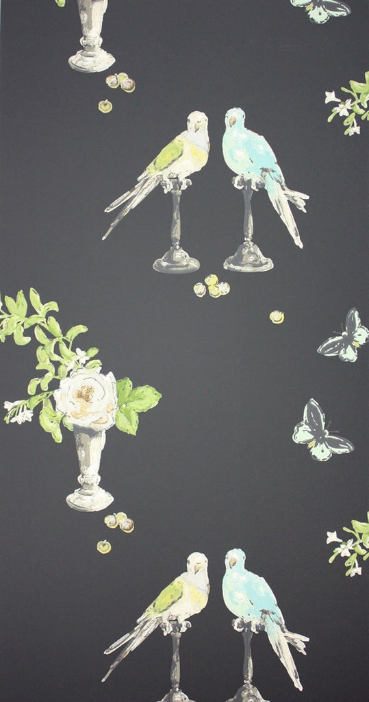 Perroquet Wallpaper in Dark Multi by Nina Campbell for Osborne & Little