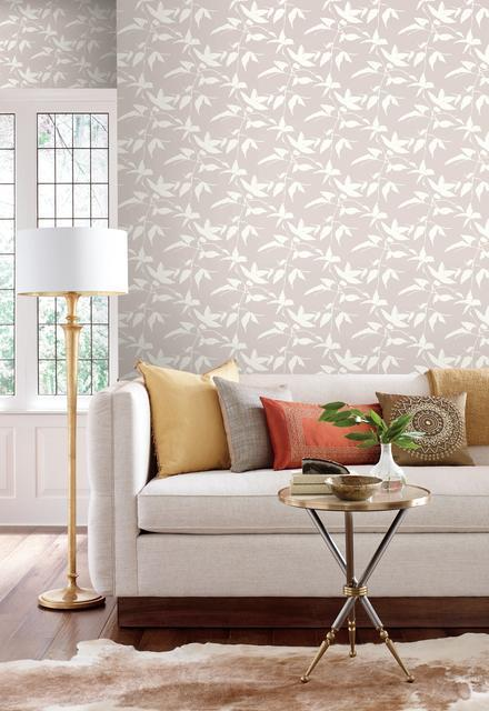 Persimmon Leaf Wallpaper from the Tea Garden Collection by Ronald Redding for York Wallcoverings