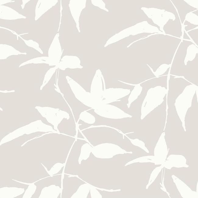 Sample Persimmon Leaf Wallpaper in Beige from the Tea Garden Collection by Ronald Redding for York Wallcoverings