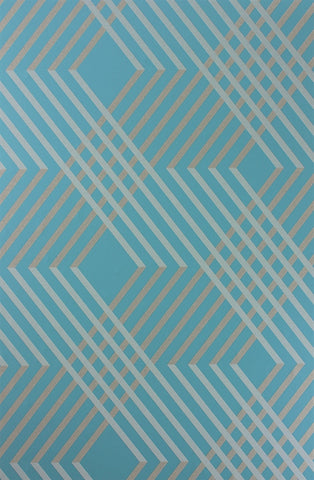 Petipa Wallpaper in Turquoise from the Fantasque Collection by Osborne & Little